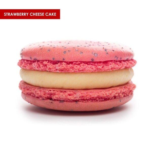 macaron-strawberry-cheesecake